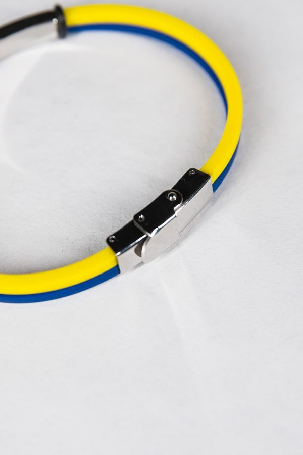 Bracciale in silicone nero con chiusura Hellas Verona
